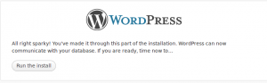 Wordpress Installation 3